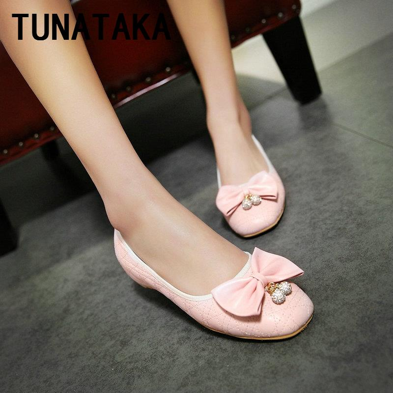 Spring Sweet Increased Internal Pumps Square Toe with Bow for Women