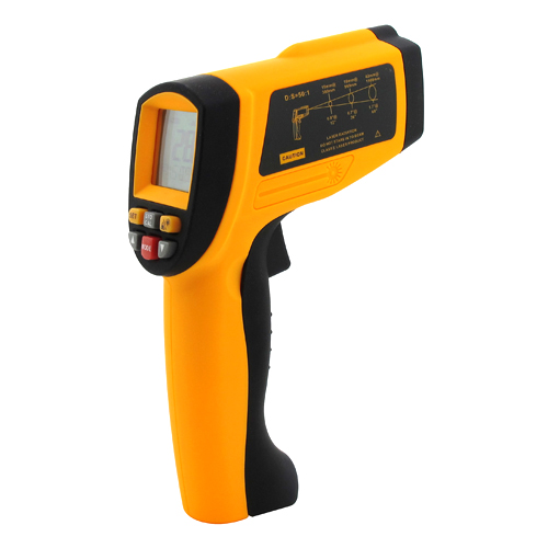 Фотография 50:1  LCD Digital Infrared Thermometer Non-Contact Laser Temperature Meter Gun Point 1350C 2462F Industrial Pyrometer 0.1~1EM