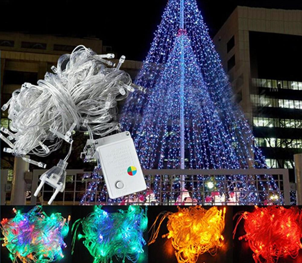 Christmas Holiday 10M RGB LED String Light Strip Lamp 110V 220V Outdoor Lighting Fairy Wedding Decoration Garden Halloween Light