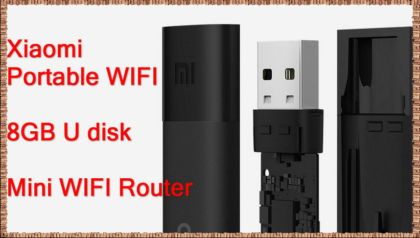 Free shipping Xiaomi Portable Mini USB Wireless Router Wifi Adapter WI-FI Emitter Internet Adapter 8GB U Disk Highest 150Mbps(China (Mainland))