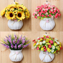 Buy Plastic vase silk flowers hanging basket container flower plant home party wedding decoration DIY flower set for $6.99 in AliExpress store