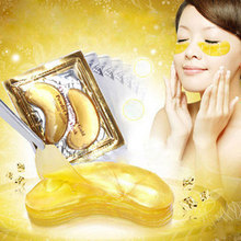 60pcs=30packs Hotsale Gold Crystal collagen Eye Mask Hotsale Eye Patches Dark Circles Face Mask Colageno(China (Mainland))