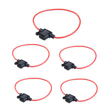 5pcs Waterproof Power Socket  Blade Type In Line Fuse Holders With 10A Fuse Free Shipping H1E1