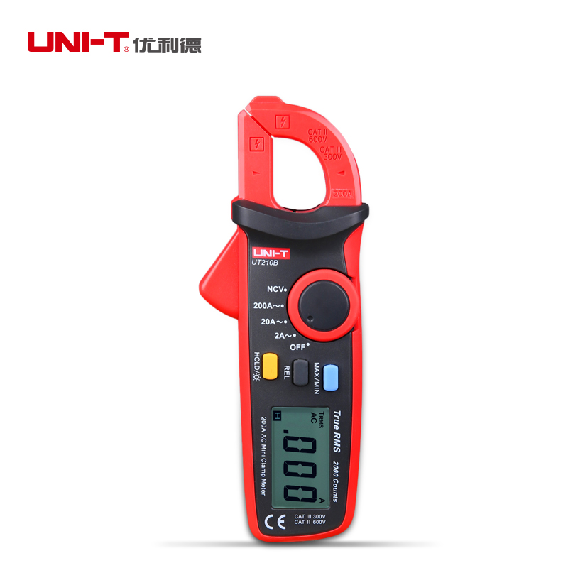 UNI-T UT210B Clamp Multimeter AC 2A/20A/200A With Auto Range True RMS NCV Low Battery Indication Max/min Function Portable<br><br>Aliexpress