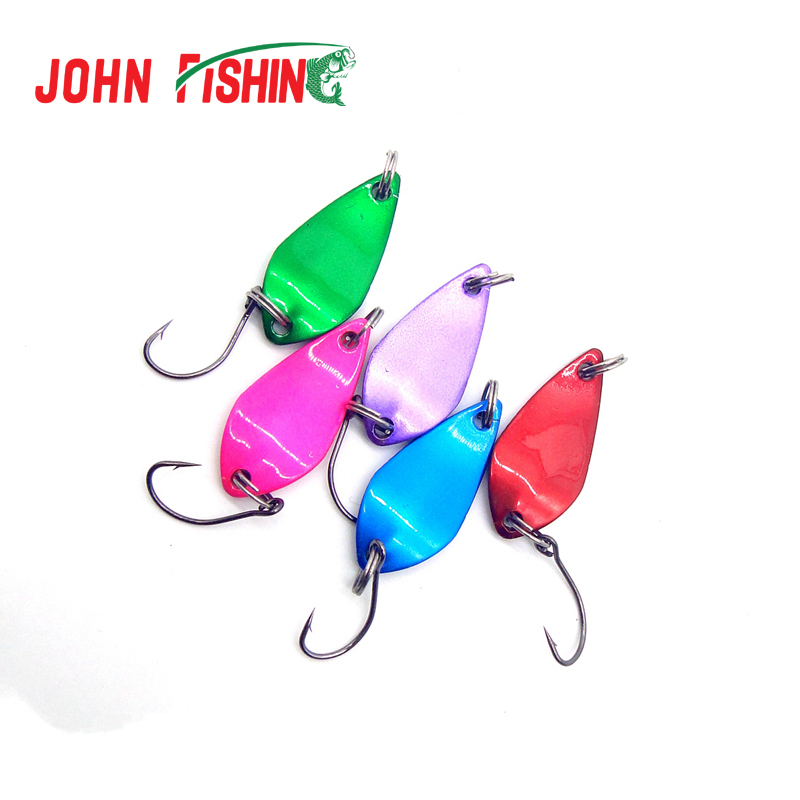 New 5X 30mm Spinner Spoon Fishing Lure Metal Lures Hard Baits Mixed Colors Free Shipping(China (Mainland))