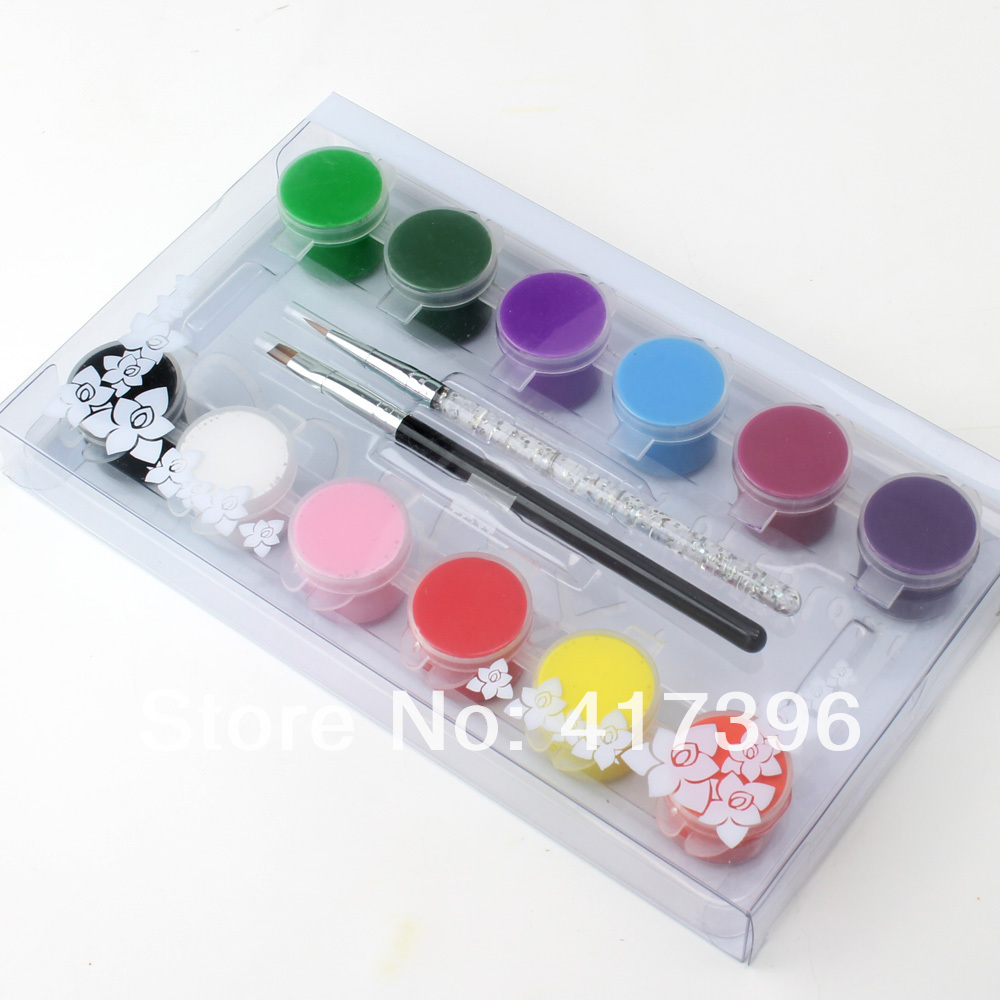 Buy 12 colors high quality 3d nail art paints pigment draw painting acrylic - High quality exterior paint set ...