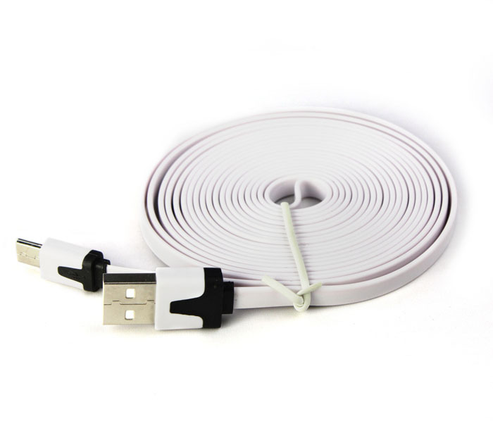 Hot Selling 3M 10ft Colorful Flat Micro USB Sync Data & Charge Cable for Samsung Galaxy S3 S4,USB Charging Cable Free Shipping