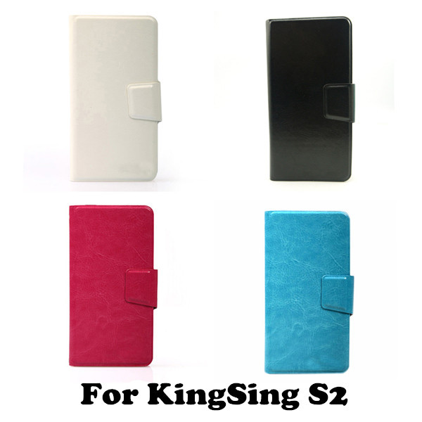 Business Patten PU Leather Universal Wallet Flip Stand Cover Phone Case for KingSing S2(China (Mainland))