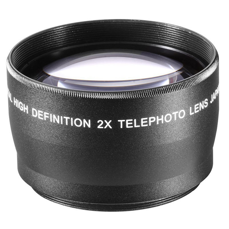 NEEWER 55mm Telephoto Lens For Sony A100 A200 A300 For Canon Nikon ...