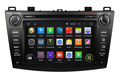 1024x600 Quad Core Android 4 4 Car DVD Player for Mazda 3 with GPS Radio Built
