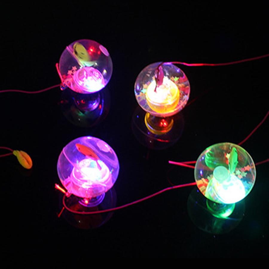 2pcs/lot Kids Toys Light Ball Toy 5.5cm Diameter Glitter Light Up Bouncy Ball Rubber Flash Led Jumping Ball Christmas Party Gift