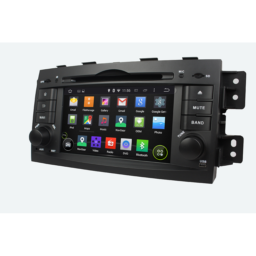 3G wifi 7nch FIT KIA MOHAVE BORREGO 2008- quad core android 5.1.1 car dvd player 16GB iNand flash dvd auto pc car gps capacitive(China (Mainland))