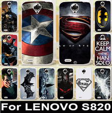 2015 New Lenovo S820 Case Lenovo S820 820 Cover Lenovo Mobile Phone Skin Shell Painted Phone Case Cover Accessories Free Ship