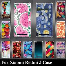 Buy Case Xiaomi Redmi 3 HongMi 3 Colorful Printing Drawing Transparent Plastic Mobile Phone Cover HongMi 3 Hard Phone Cases for $1.28 in AliExpress store