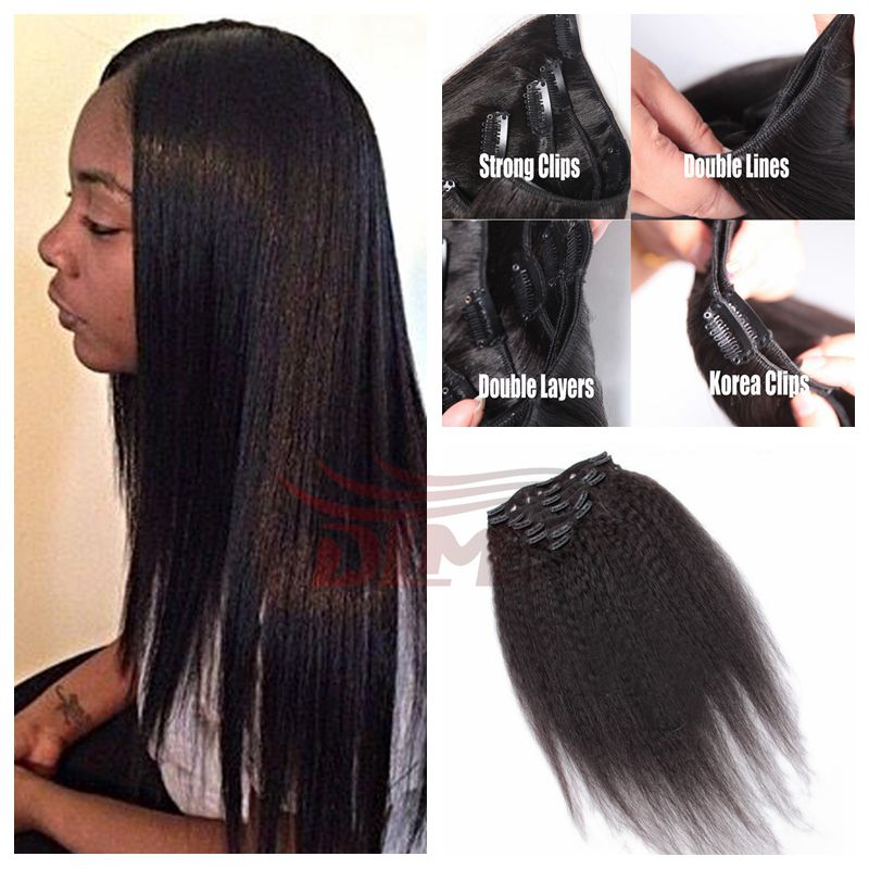 Snap Human Hair Clip On Extensions For Americans Clip In Human Hair