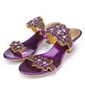 2016 Summer Diamond Purple Peep Toe High Heels Sandals For Sale Size 11 Hollow Female Korean