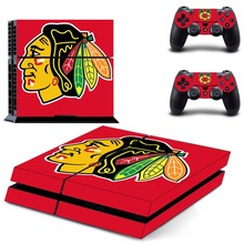 Chicago Blackhawks PS4 Skin Sticker Decals for Sony PS4 Console and 2 Controllers skins