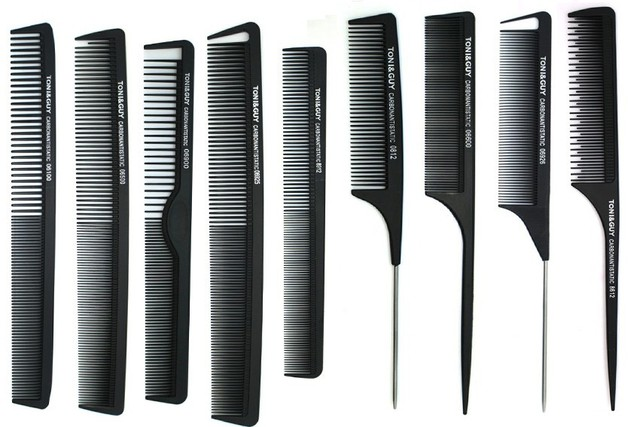 Волосы углерода гребень 9 / pcs много черный волос комбс комплект, Хвост волосы расческой ...