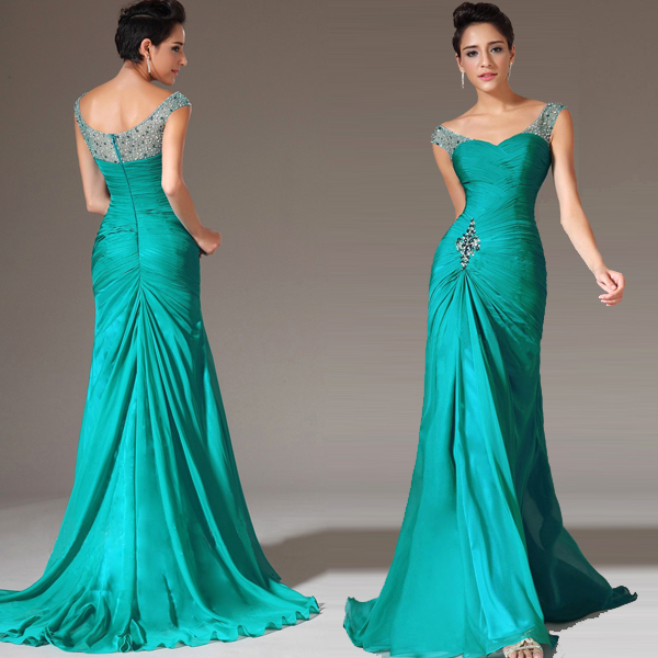 Compare Prices on Chiffon Dresses Blue Green- Online Shopping/Buy ...