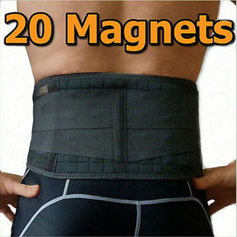 Back Support with 20 Magnets Lumbar Brace Belt Strap Lower Backache Pain Relief(China (Mainland))