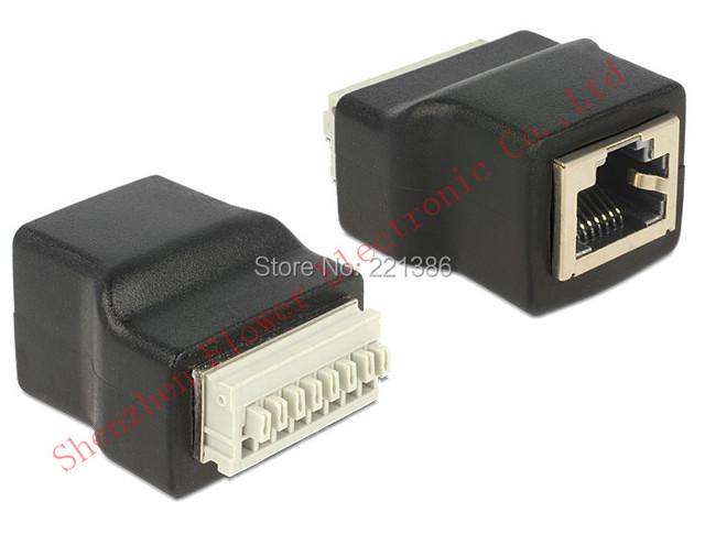 acheter rj45 printemps terminal adaptateur rj45 femelle 8 broches connecteur. Black Bedroom Furniture Sets. Home Design Ideas