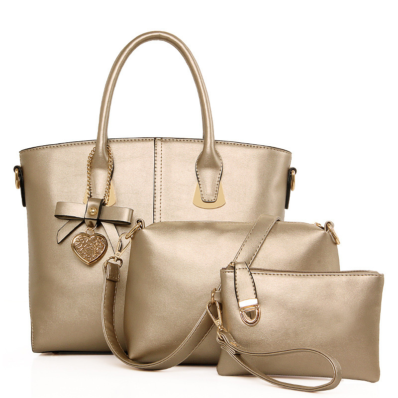 Hot!New Popular 3 Bags/Set Women Handbags 2016 Fashion PU Leather Women Bag Factory Outlet Girls Handbag Women Composite Bags(China (Mainland))