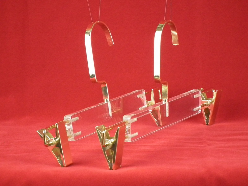 Factory direct sale PMMA Acrylic transparent pants display hangers(China (Mainland))