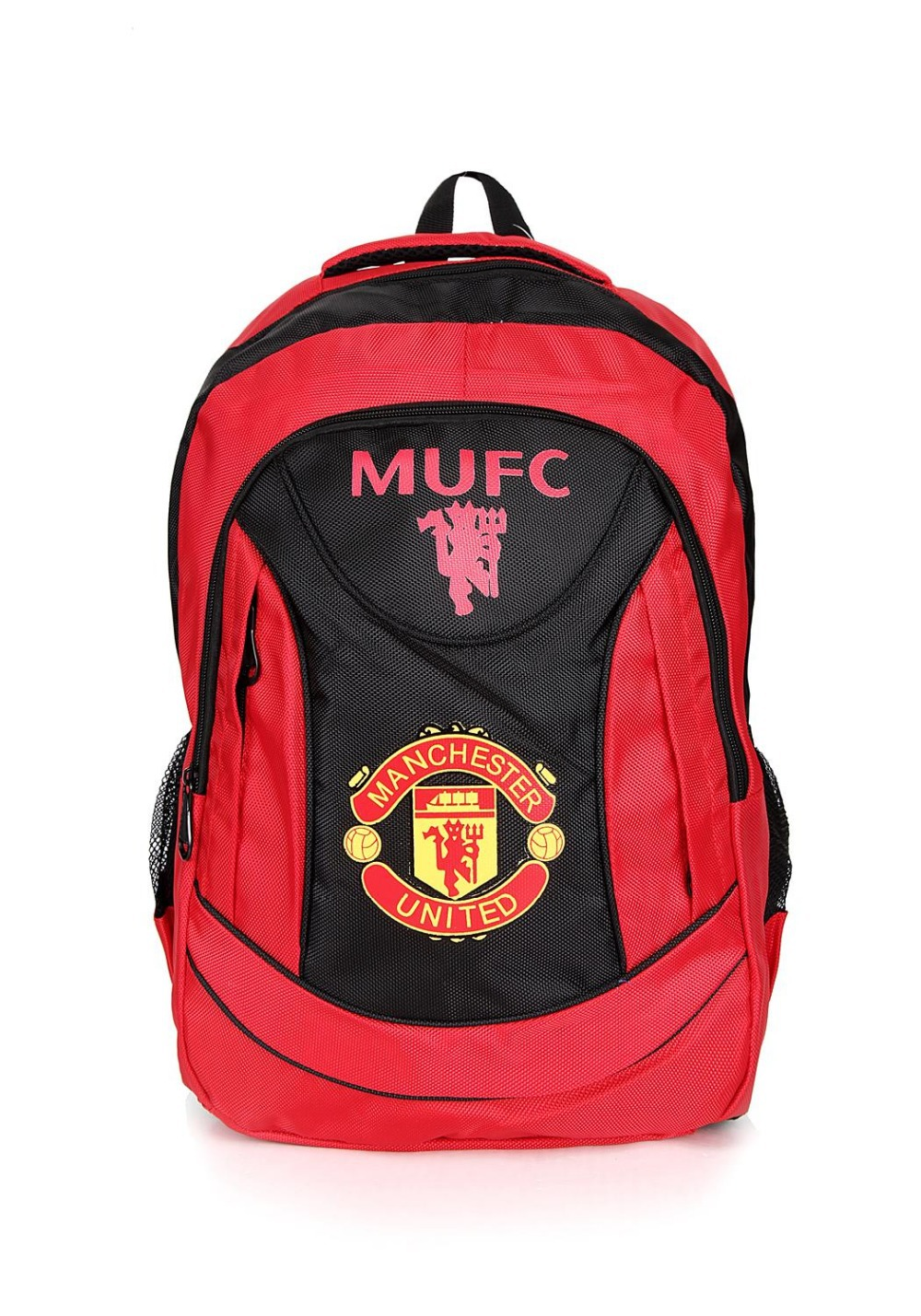 The Red Devils Football Club Ferguson, Busby, Charlton, Best, Eric Cantona, David Beckham, C Luo Bag football backpack Backpac(China (Mainland))
