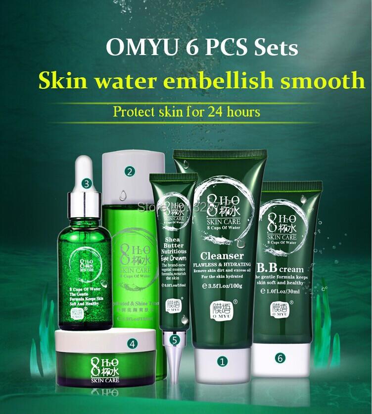 Moyu увлажняющий уход за кожей устанавливает женский фаска отбеливания и увлажняющий против морщин лица крем для лица продукты 6 шт./компл.