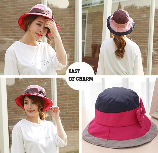 цена на Женская шляпа от солнца East of charm ! 2015 bow/knot Hat sun19