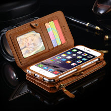 FLOVEME Folding 18 Card Slots Wallet Purse Case For Apple iPhone 5 5S SE Business Retro Noble Men Women Cover Bag For iPhone 5S(China (Mainland))