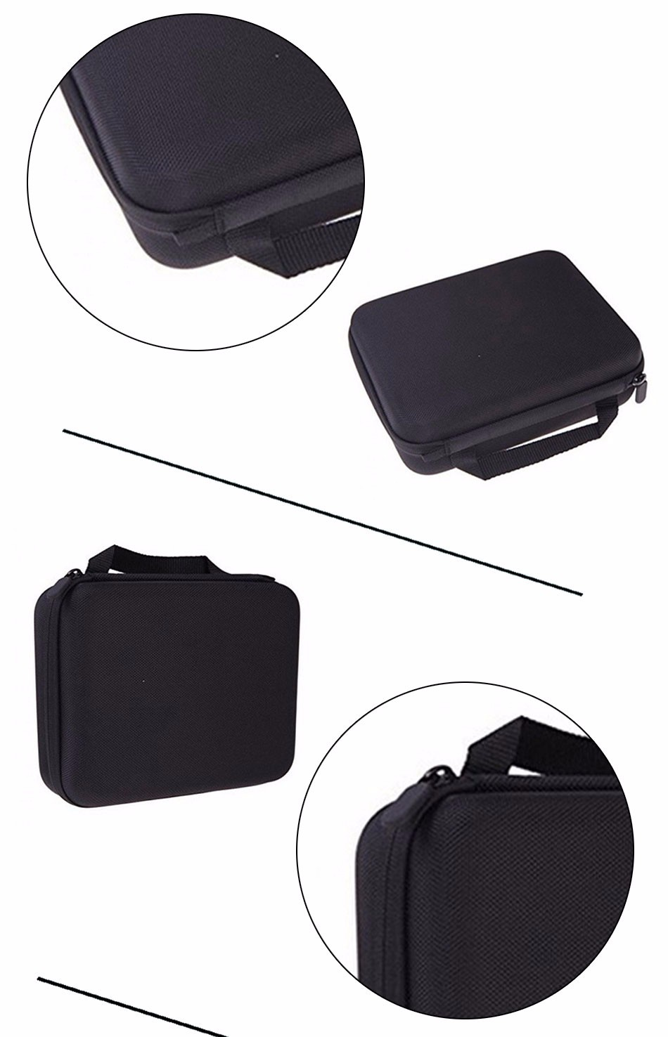 Middle Size Collection Box Case Bag Ride Storage Bag For Xiaomi Yi Gopro Hero4 Sjcam Sj4000 Action Camera/Video Bags Accessories