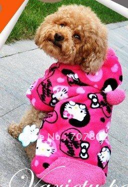 Promtion!! New arrival pet clothes/ dog clothing/Hello kitty pet coat/dog coat(China (Mainland))