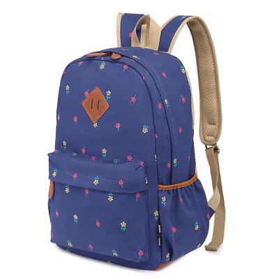 2015 backpack cute flower school knapsacks teenage girl .sweet harajuku canvas bookbag / backpacks ,shoulder bags floral - Tiramisu Store store