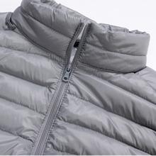 Brand New Winter Men s Ultralight Down Vest Stand Collar Sleeveless Jacket Warm Coat 90 White