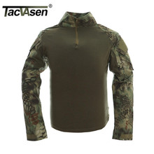 Buy TACVASEN Python Camouflage Male T-shirts Army Combat Tactical T Shirt Military Men Long Sleeve T-Shirts WHFE-022 for $19.59 in AliExpress store