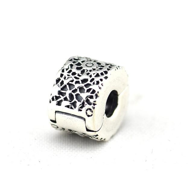 Осень стиль серебряные ювелирные изделия 925 кружева клипы серебряный бусины Fit пандора оригинальный подвески браслеты DIY ювелирных украшений