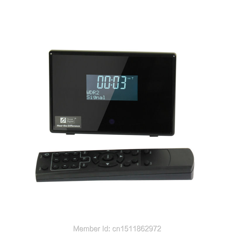 ocean digital alarm clock big display dab dab fm radio tuner receiver black in radio from. Black Bedroom Furniture Sets. Home Design Ideas