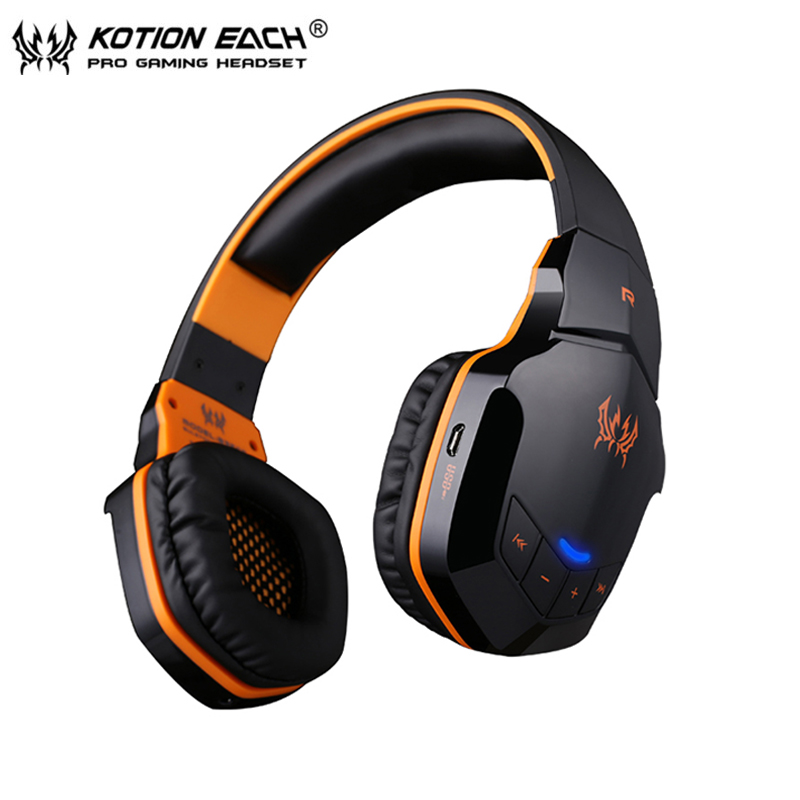 wireless bluetooth stereo headphones headset each b3505 with volume control mic for iphone 6. Black Bedroom Furniture Sets. Home Design Ideas