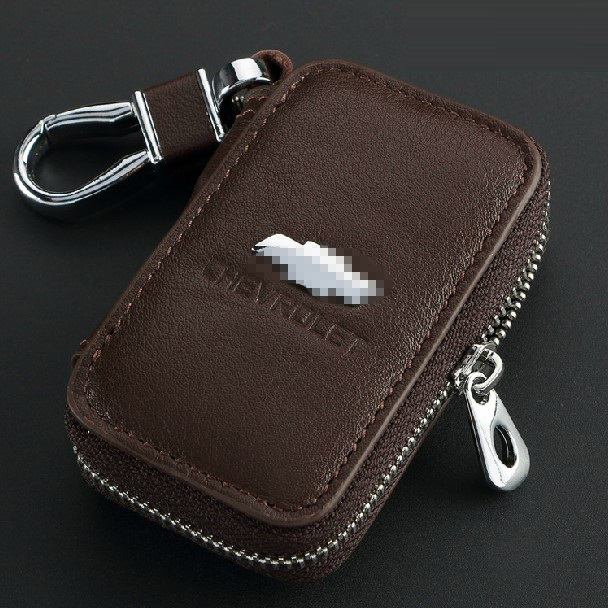 Top Genuine Leather Automotive Remote Control Bag Chevrolet Cruze Aveo CAMARO EPICA CAPTIVA Spark Malibu key Bag Key Case