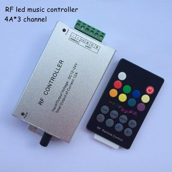5pcs 18key Audio sound DC12-24V 12a 3*4A rf wireless rgb music led remote controller to control led strip light free shipping(China (Mainland))