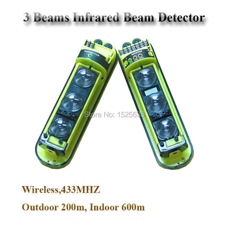 (Outdoor 200m,Indoor 600m) Active Infrared  Beam Motion Photoelectric Alarm Beam Sensor Baluster Intrusion Burglar  Perimeter<br><br>Aliexpress