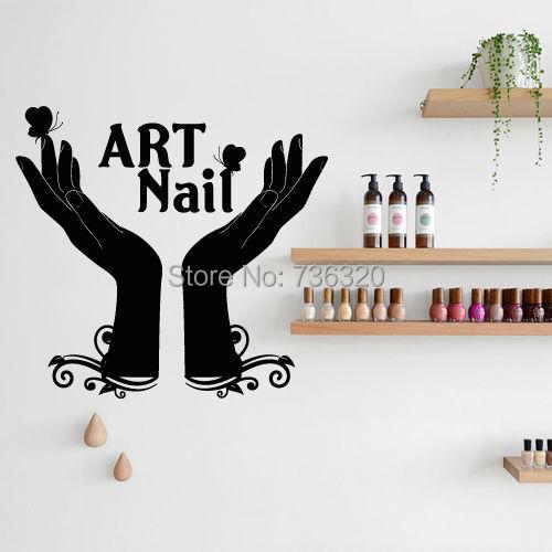Nail Vinyl Wall Decal Salon Polish Beauty Master Varnish Manicure Stylist Art Sticker Shop Decoration Window - 365DAYS SWEET HOME (HOME Artist-Vicky Li store)