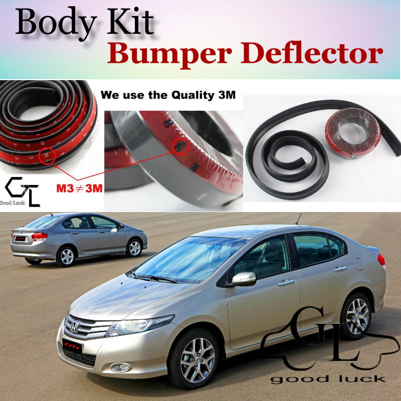 For HONDA City Type Zp ZX S Fit Aria Everus S1 Ballade Grace Bumper Lip / Front Spoiler For Car Tuning / Body Kit + Strip Skirt<br><br>Aliexpress