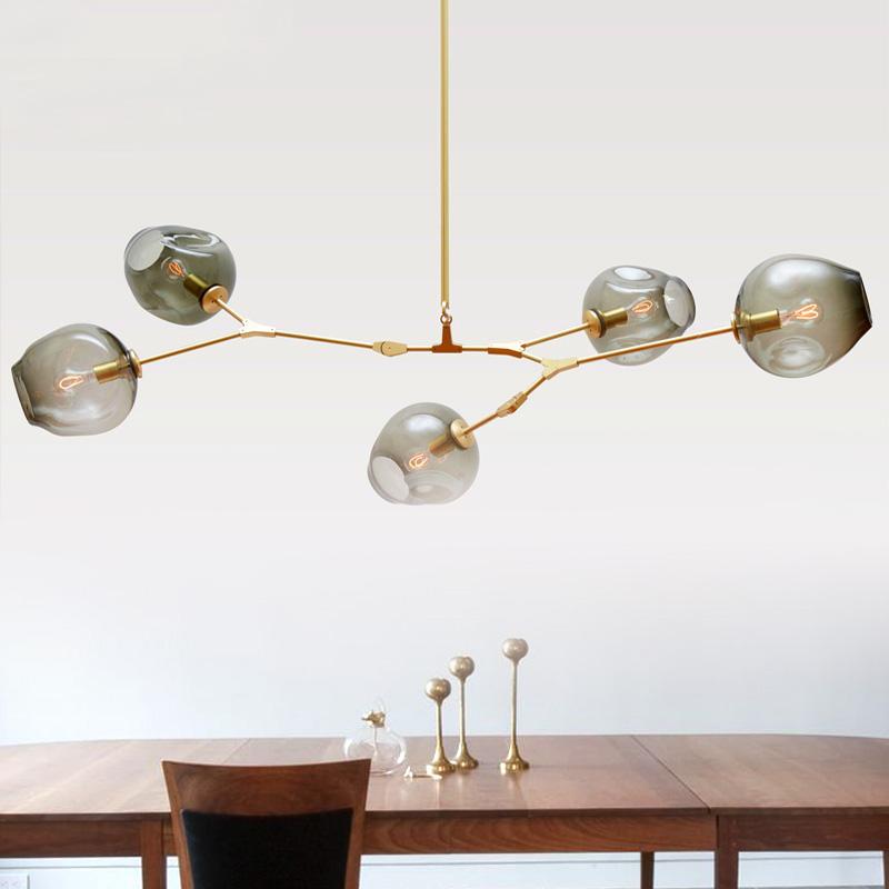 Nordic personalized molecular glass pendant lamp post modern minimalist Guest House Villa bubble ball(China (Mainland))