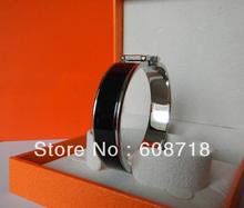 Stunning Designer Narrow BLACK Enamel Bracelet,Silver Plated Hardware.France Paris Black Enamel Bracelet,Women Favorite Jewelry(China (Mainland))