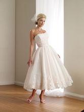 2016 Off Shoulder Strapless Appliques Lace Wedding Dress 2016 Sleeveless A Line Short Wedding Dress Vestido De Noiva (SL-W834)(China (Mainland))