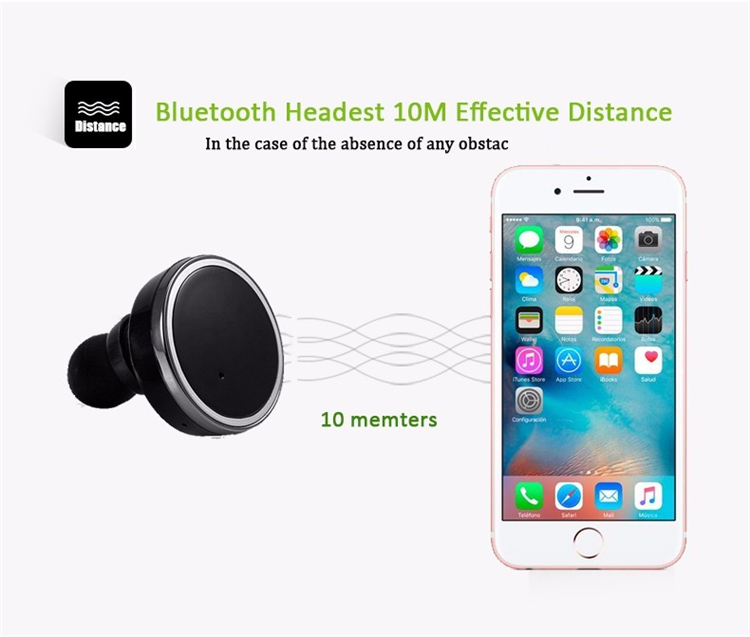 Q800 TWS Bluetooth Earphones 4.1 Mini Wireless Dual Earphone in-Ear Twins Earbuds for iphone 7 xiaomi/Samsung Portable