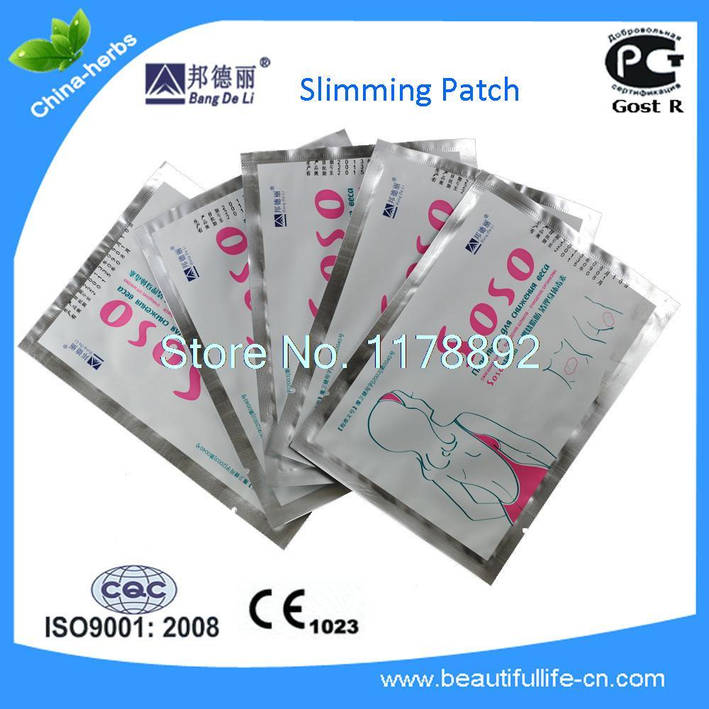 10 Pcs SOSO slimming patches to loss weight safe and natural(China (Mainland))