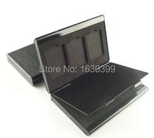 2015 Rushed Sale Freeshipping Black White Brown Ram Card Box Case Camera Memory Storage Aluminum Alloy (China (Mainland))